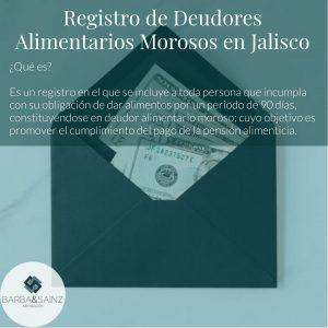 Registro de Deudores Alimentarios Morosos Jalisco
